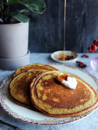 Vegan Earl Gray Chai Pancakes