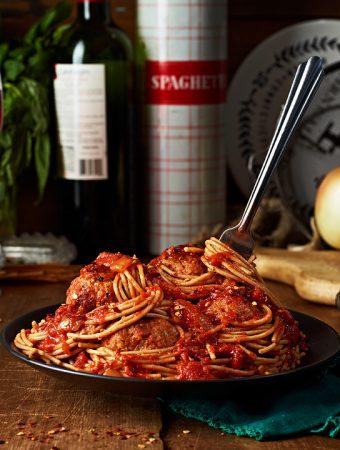 Vegan Meatballs & Spaghetti