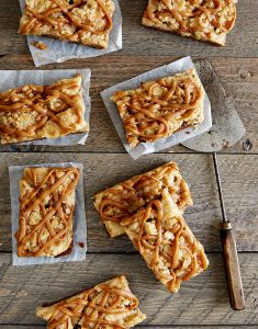 Vegan Apple Peanut Butter Caramel Bars
