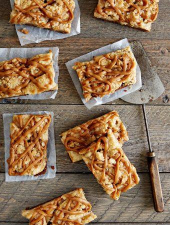 Vegan Apple Peanut Butter Caramel Bars